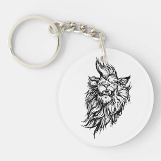 Lion-punk Key Ring
