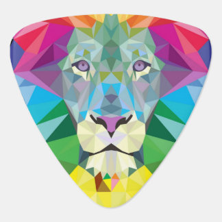 Lion Rainbow Guitar Pick