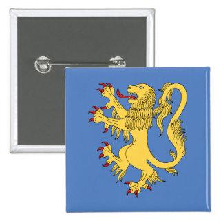 Lion Rampant 15 Cm Square Badge