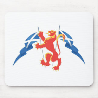 Lion Rampant and Saltires Mouse Mat