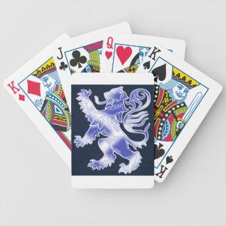 Lion Rampant Blue Bicycle Poker Deck
