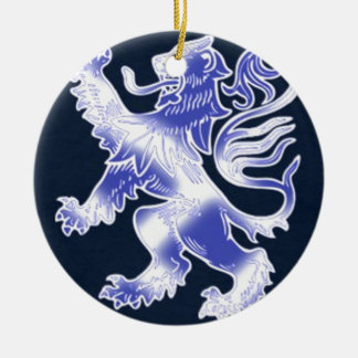 Lion Rampant Blue Christmas Ornament