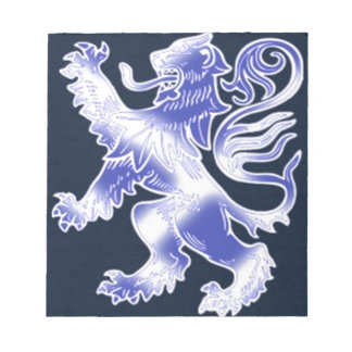 Lion Rampant Blue Note Pad