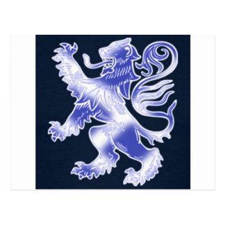 Lion Rampant Blue Postcards