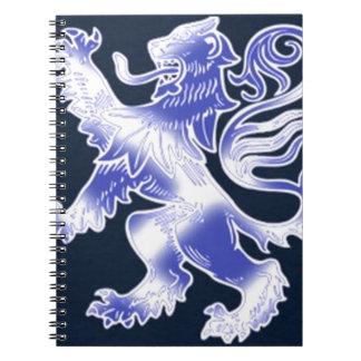 Lion Rampant Blue Spiral Notebooks
