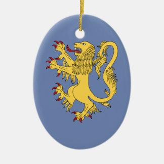 Lion Rampant Christmas Ornament