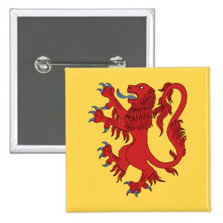 Lion Rampant Gules 15 Cm Square Badge