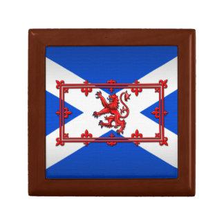 Lion Rampant On Scottish Flag Gift Box