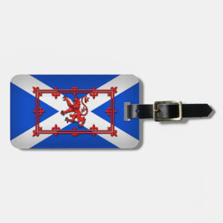 Lion Rampant On Scottish Flag Luggage Tag