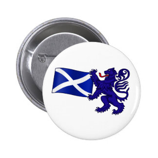 Lion Rampant & Saltire Flag Scottish Design 6 Cm Round Badge
