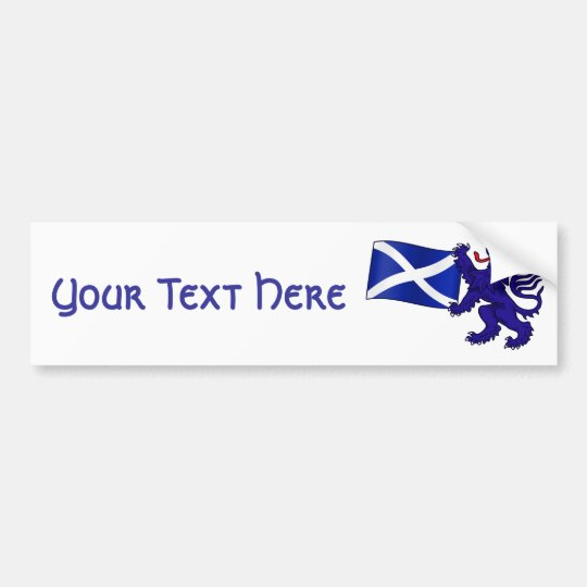 Lion Rampant & Saltire Flag Scottish Design Bumper