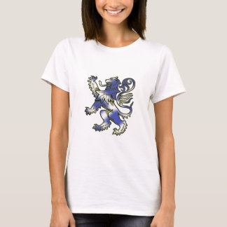 Lion Rampant stylised with Scottish Flag. T-Shirt