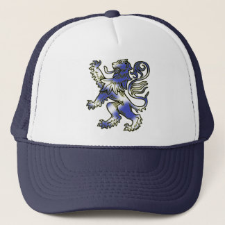 Lion Rampant stylised with Scottish Flag. Trucker Hat