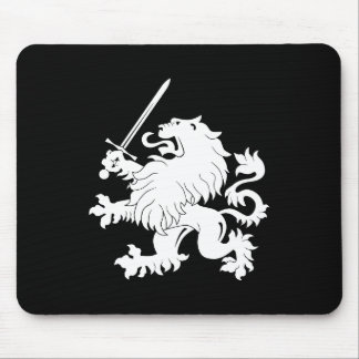 Lion Rampant with Sword Heraldry Mousepad