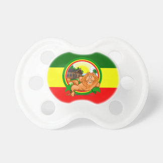 Lion rasta baby pacifier