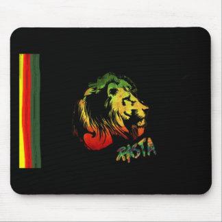 lion rasta mouse mat