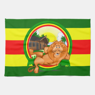 Lion rasta tea towel