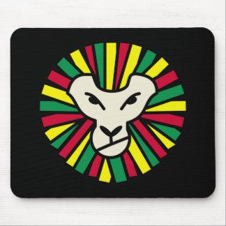 Lion Rastafari Coloured Mane Mouse Pad