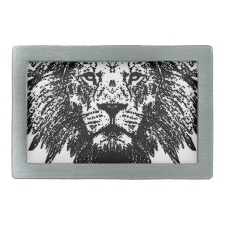 Lion Rectangular Belt Buckles