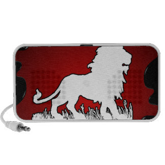 LION RED BACKGROUND PRODUCTS iPhone SPEAKER