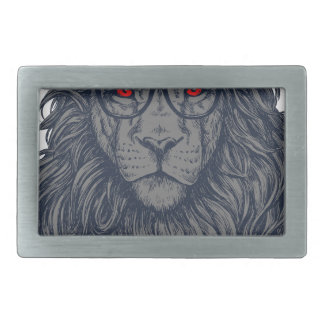 Lion redeye belt buckle