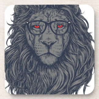 Lion redeye beverage coasters