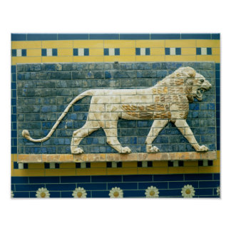 Lion representing Ishtar Poster