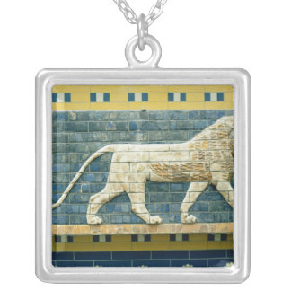 Lion representing Ishtar Silver Plated Necklace