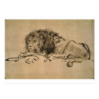 Lion Resting by Rembrandt Postcard