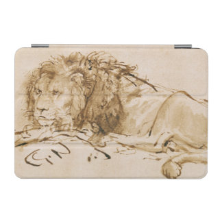 Lion Resting (pen and ink on paper) iPad Mini Cover