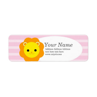 lion  return address stickers