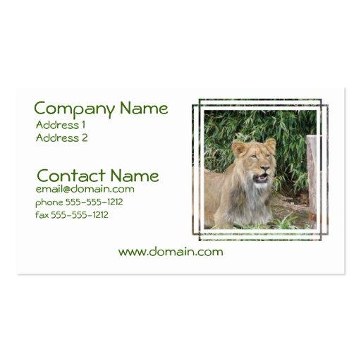 Lion Roar Business Card