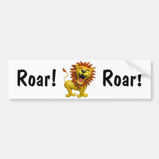 Lion Roaring Car Bumper Sticker