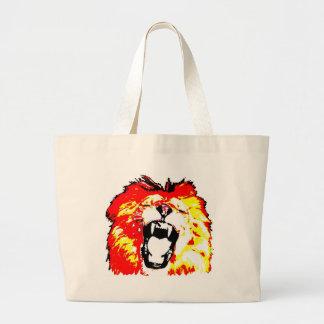 Lion Roaring Canvas Bag