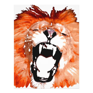 Lion Roaring 21.5 Cm X 28 Cm Flyer