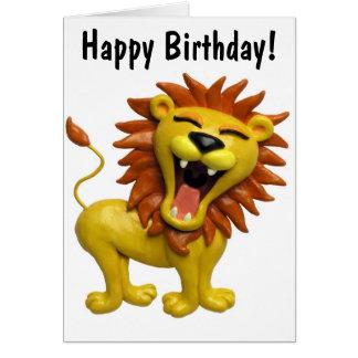 Lion Roaring Greeting Card