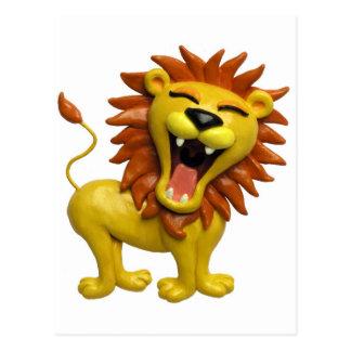 Lion Roaring Postcard