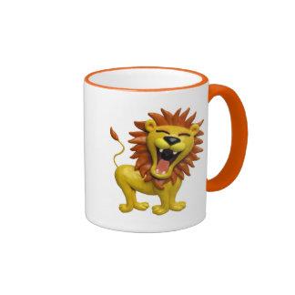 Lion Roaring Ringer Mug