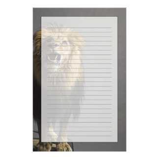 Lion roaring stationery
