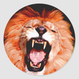 Lion Roaring Stickers