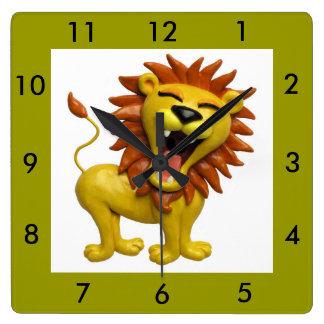 Lion Roaring Wall Clocks