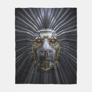 Lion Robot Fleece Blanket