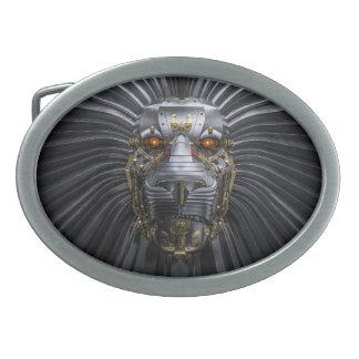 Lion Robot Oval Belt Buckle