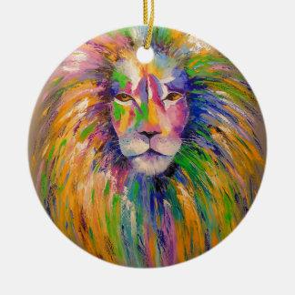 Lion Round Ceramic Decoration