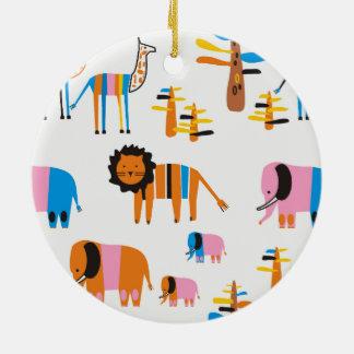 Lion, Round Ceramic Decoration
