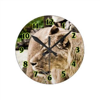 Lion Round Clock