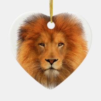 Lion's Mane Ceramic Heart Decoration