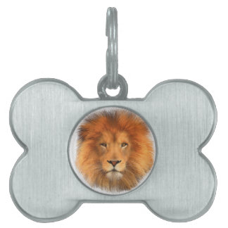 Lion's Mane Pet Name Tag