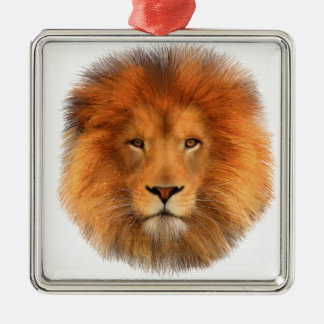 Lion's Mane Silver-Colored Square Decoration