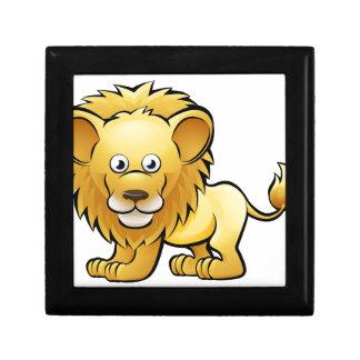 Lion Safari Animals Cartoon Character Small Square Gift Box